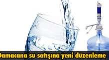 Damacana su satışına yeni düzenleme