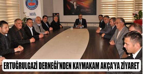 Yeni yönetim Kaymakam Akça'yı ziyaret etti