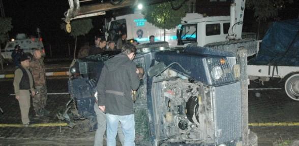 Zırhlı Araç Devrildi, 6 Polis Yaralandı