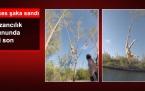 Halatla Tarzancılık Yapan Genç Kız Kayalıklara Düştü