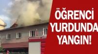 İnegöl'de öğrenci Pansiyonunda Yangın