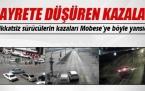 Bursa'da Dikkatsiz sürücülerin kazaları Mobese'ye böyle yansıdı