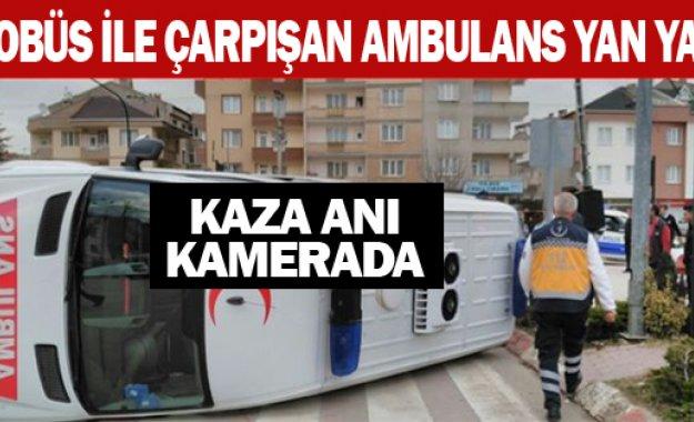 Ambulans Yan Yattı!