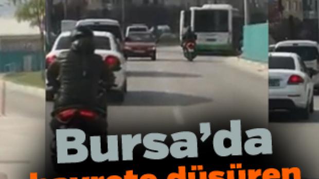 Bursa'da hayrete düşüren görüntü