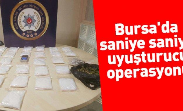 Bursa'da Saniye Saniye Uyuşturucu Operasyonu