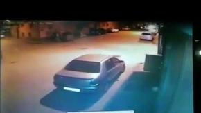 İnegöl'de kaza anı saniye saniye kaydedildi!