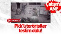 Sur'da teröristler böyle teslim oldu! İşte o anlar